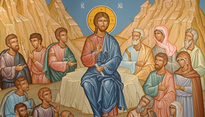 Image result for jesus sermon on the mount icon